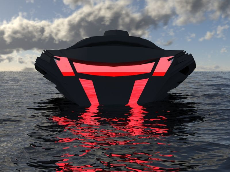 2nd day | of studying 3d max | Diamond Boat v2 (without tutorials)