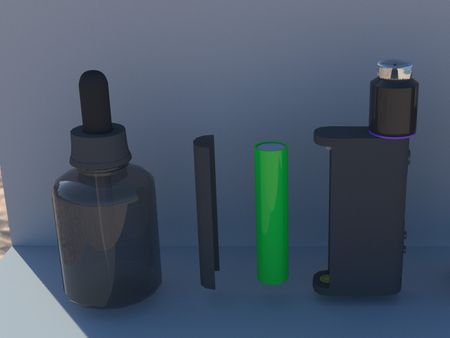 3rd day   of studying 3d max   Vape (without tutorials)