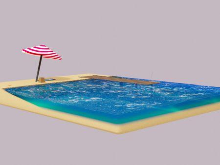 Stylized Beach Scene