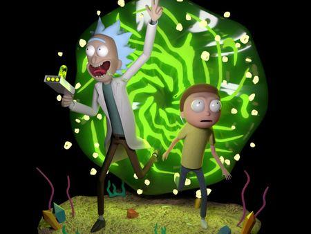 Rick & Morty 3D visualization