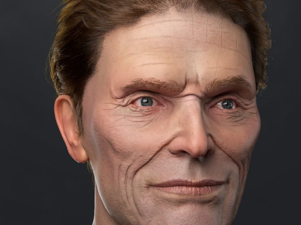 Willem Dafoe CG Portrait