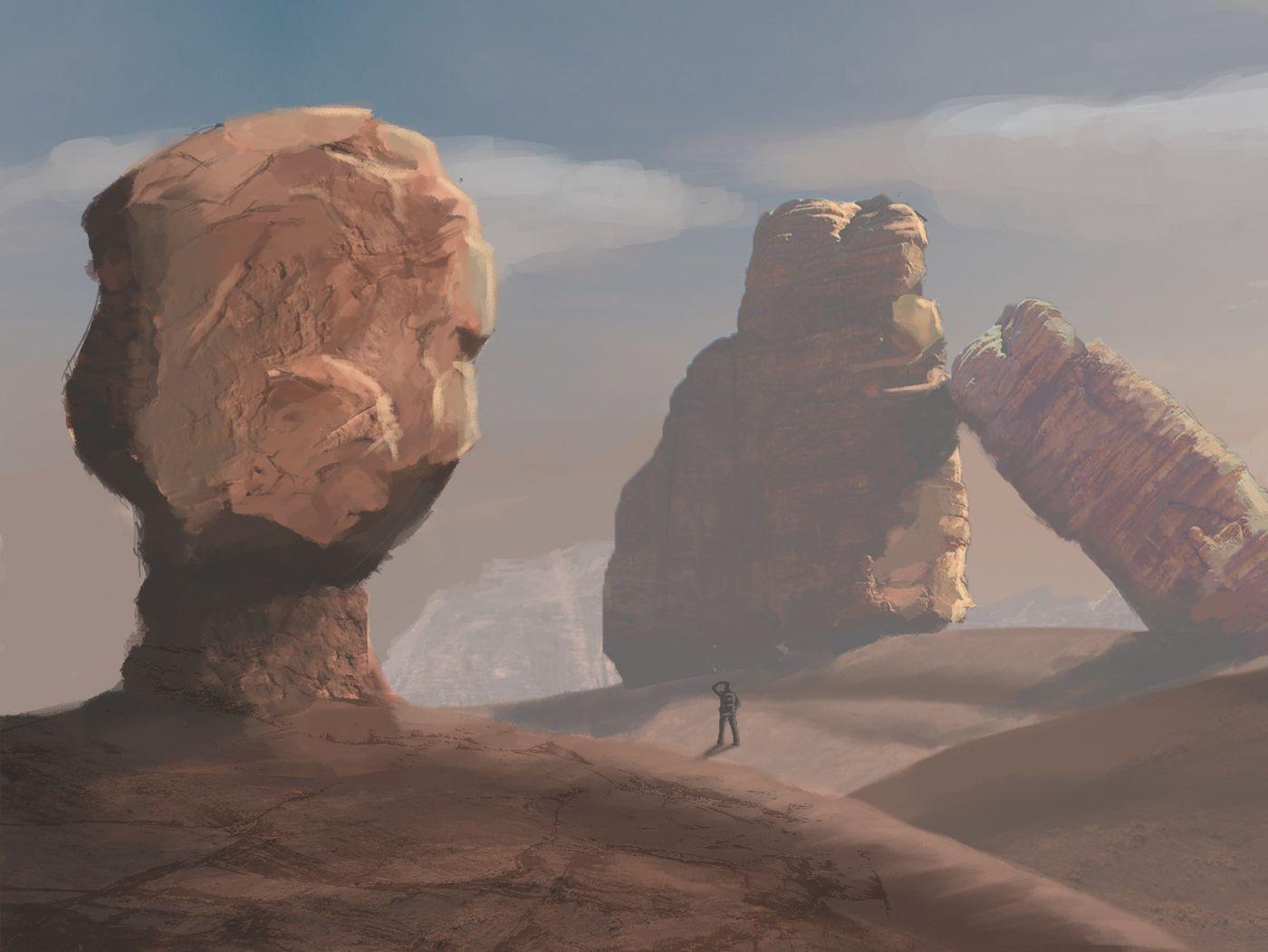 Traveler in a Desert