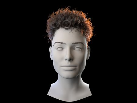 XGen Interactive Curly Hair Practice