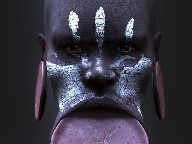 Mursi Portrait