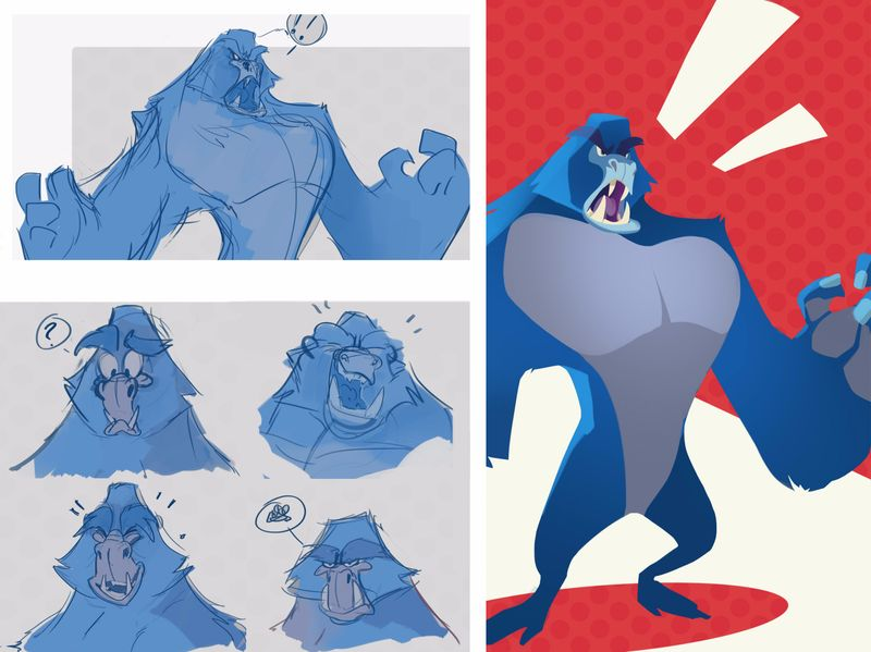 Just some big blue Apes