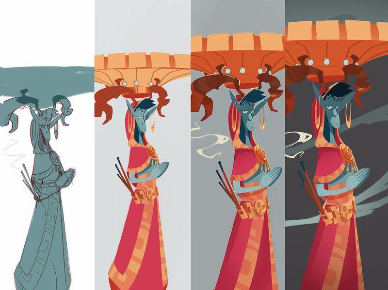 Spirit Elf Character + Process