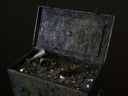 Spanish pirate treasure chest