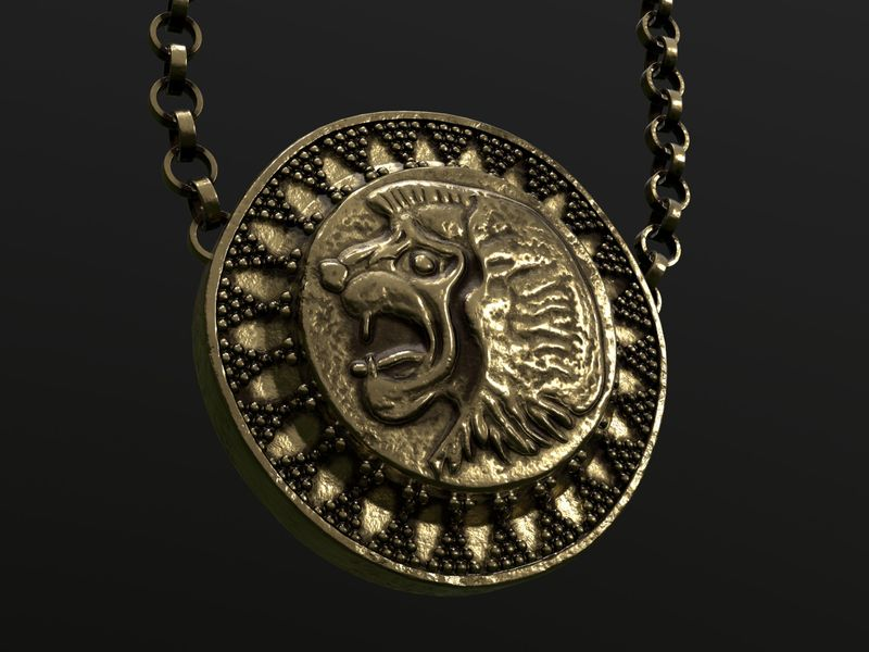 Golden Lion Medallion