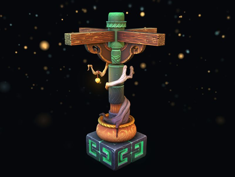 Stylized Tree Column