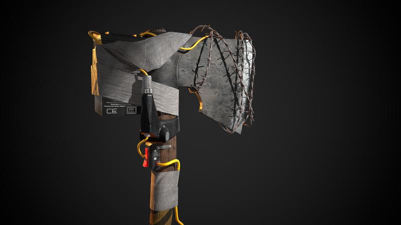 Apocalyptic axe - Jhonson Ting Concept Art