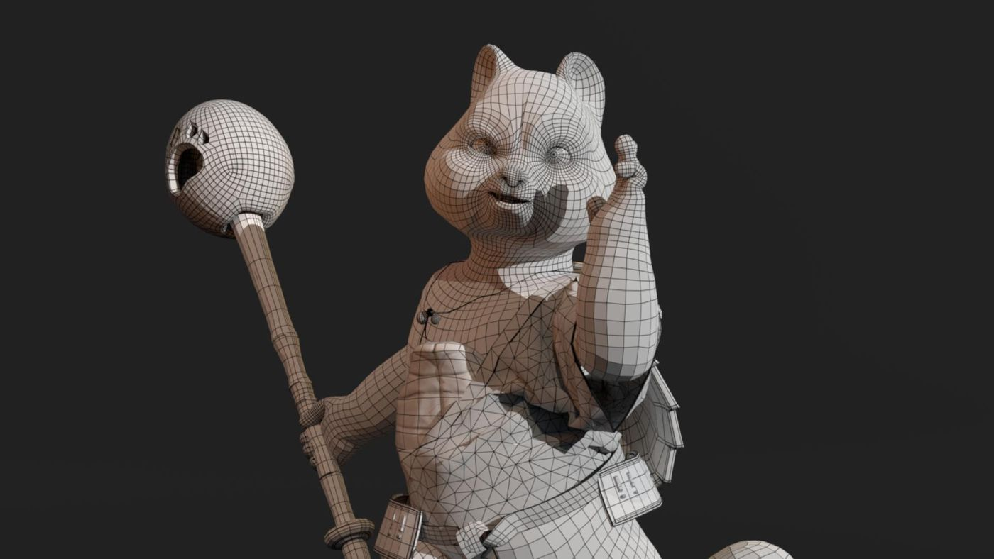 Red Panda Wireframe Goody12334.0088