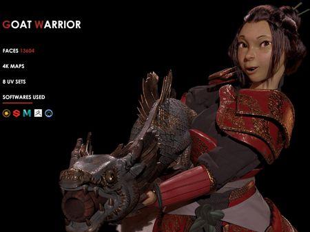 Goat Warrior - The Fierce Warrior