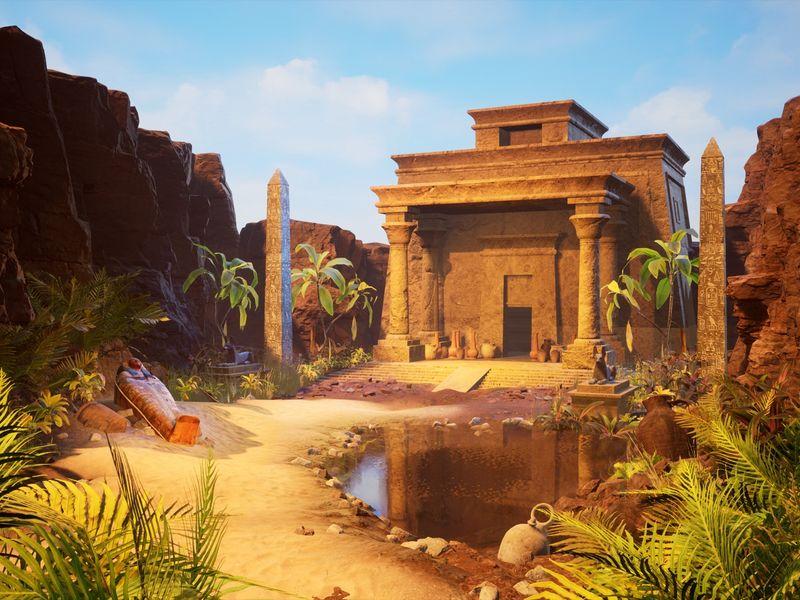 Anubis temple entrance by Lauro Gutierrez