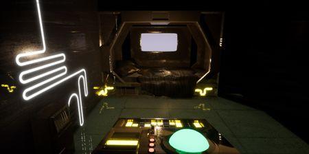 Space Station Bedroom Scene