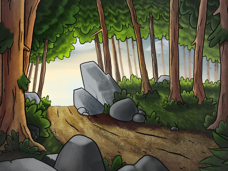 Stylized forest (Digital Painting)