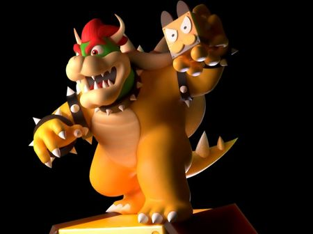Bowser riding Broggy!