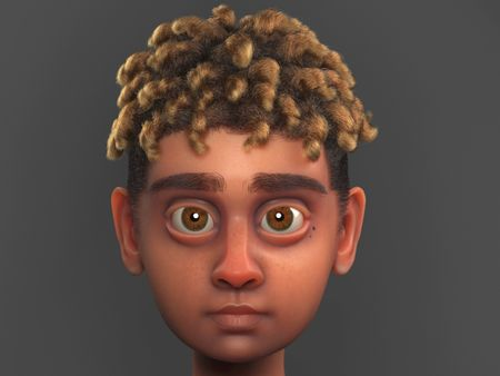 Curly Boy Character