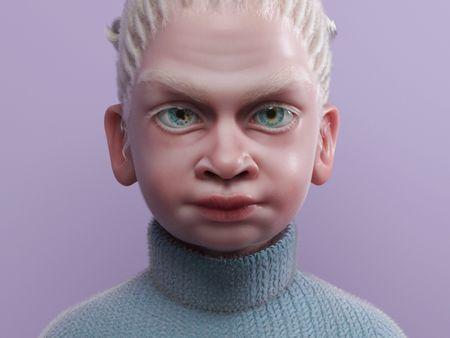 Albino Girl Character