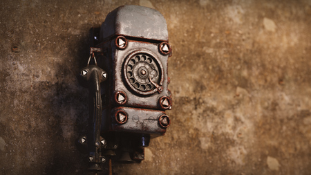 Funke + Huster bunker telephone 3D model