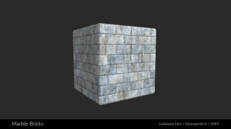 Dirty Marble Bricks Material