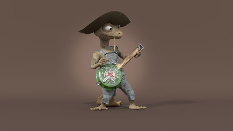 Gecko (character LookDev project)