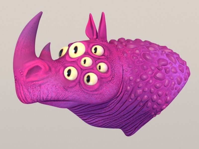 Daily Sculpt - Cartoon Bust Mutant Rhino