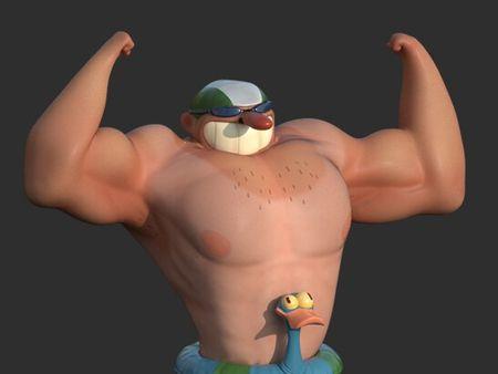 Cartoon Swimmer