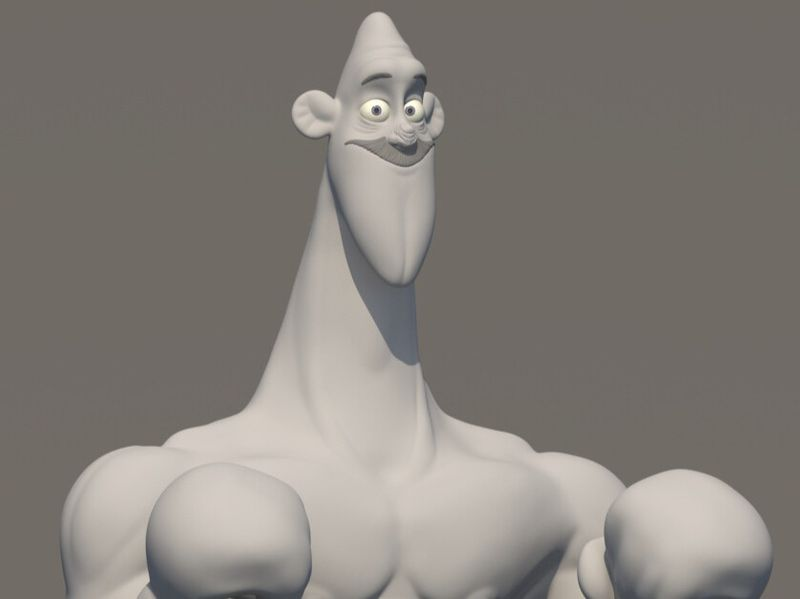 Daily Sculpt - Cartoon Bust Boxer