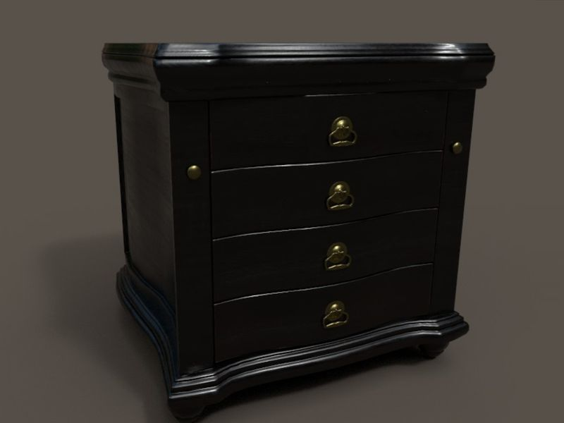 nightstand asset for game