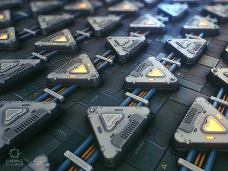 Sci-Fi Panels - Substance Designer