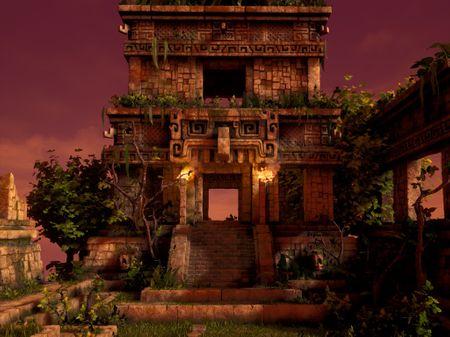 Aztec Temple Diorama
