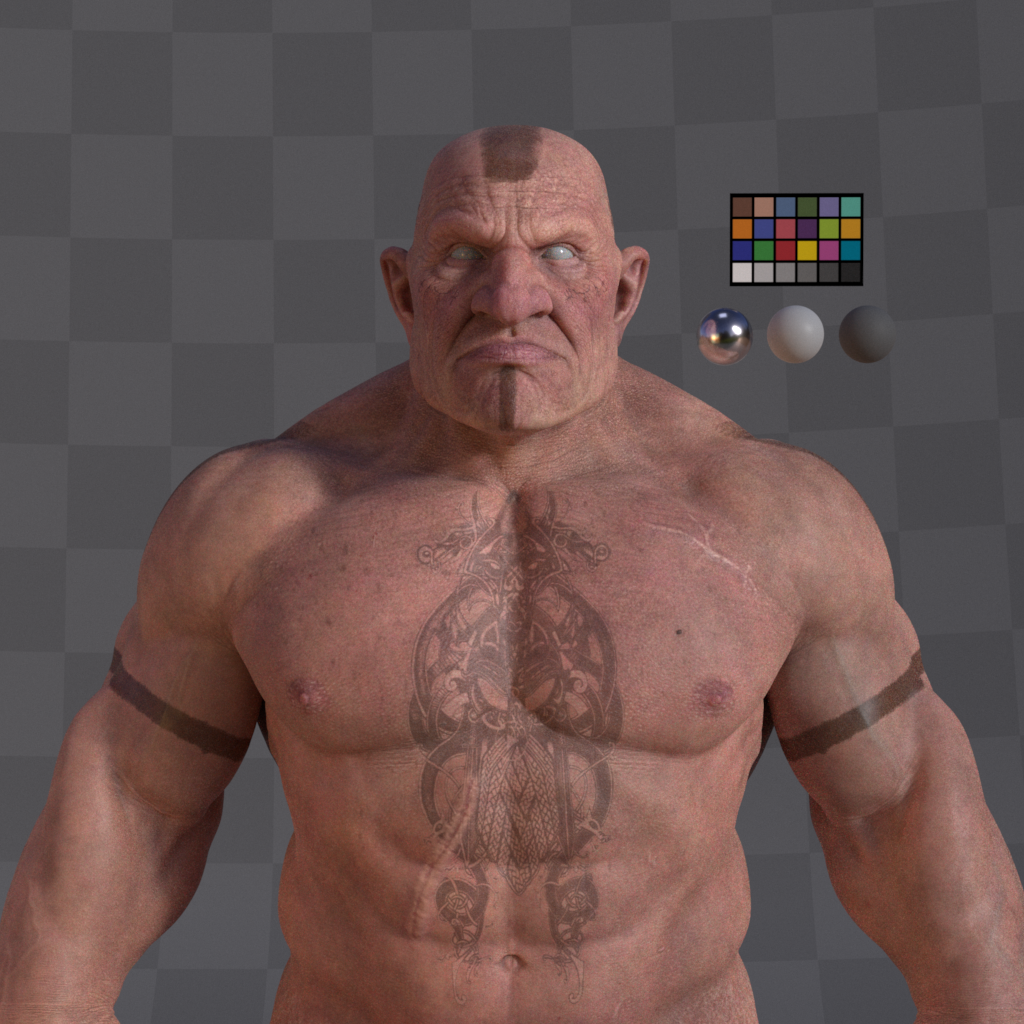 Dwarf Character  Turntable Profile 001 Gustavoordonez