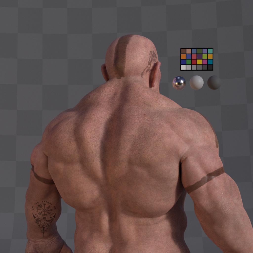 Dwarf Character  Turntable Profile 002 Gustavoordonez