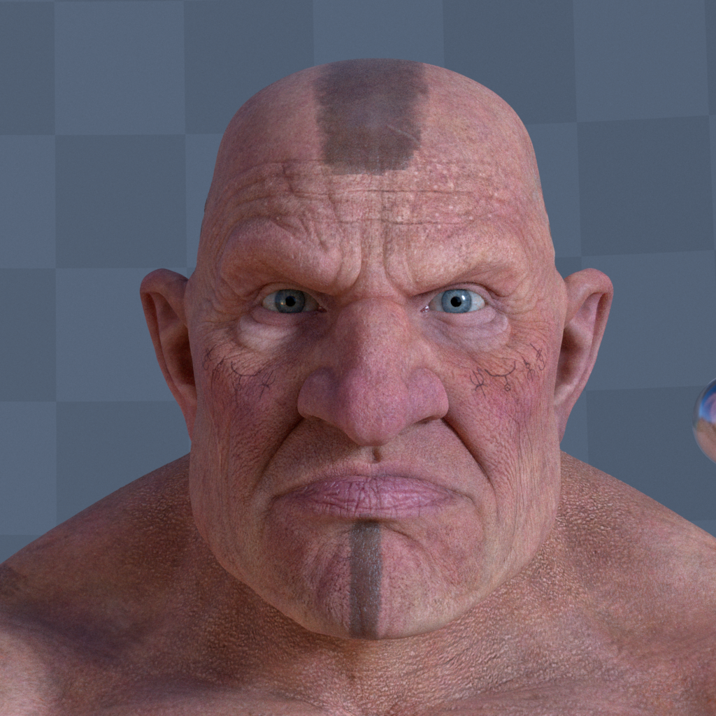 Dwarf Character  Turntable Face 001 Gustavoordonez