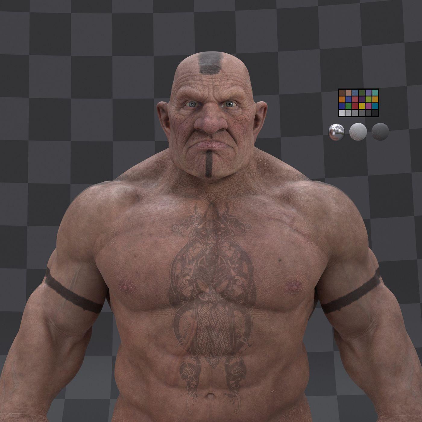 Dwarf Character  Turntable Profile 003 Gustavoordonez