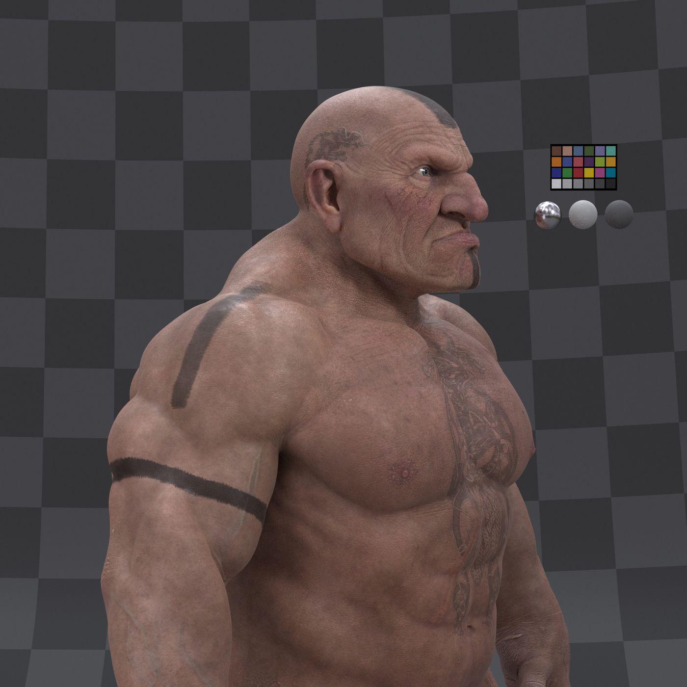 Dwarf Character  Turntable Profile 004 Gustavoordonez