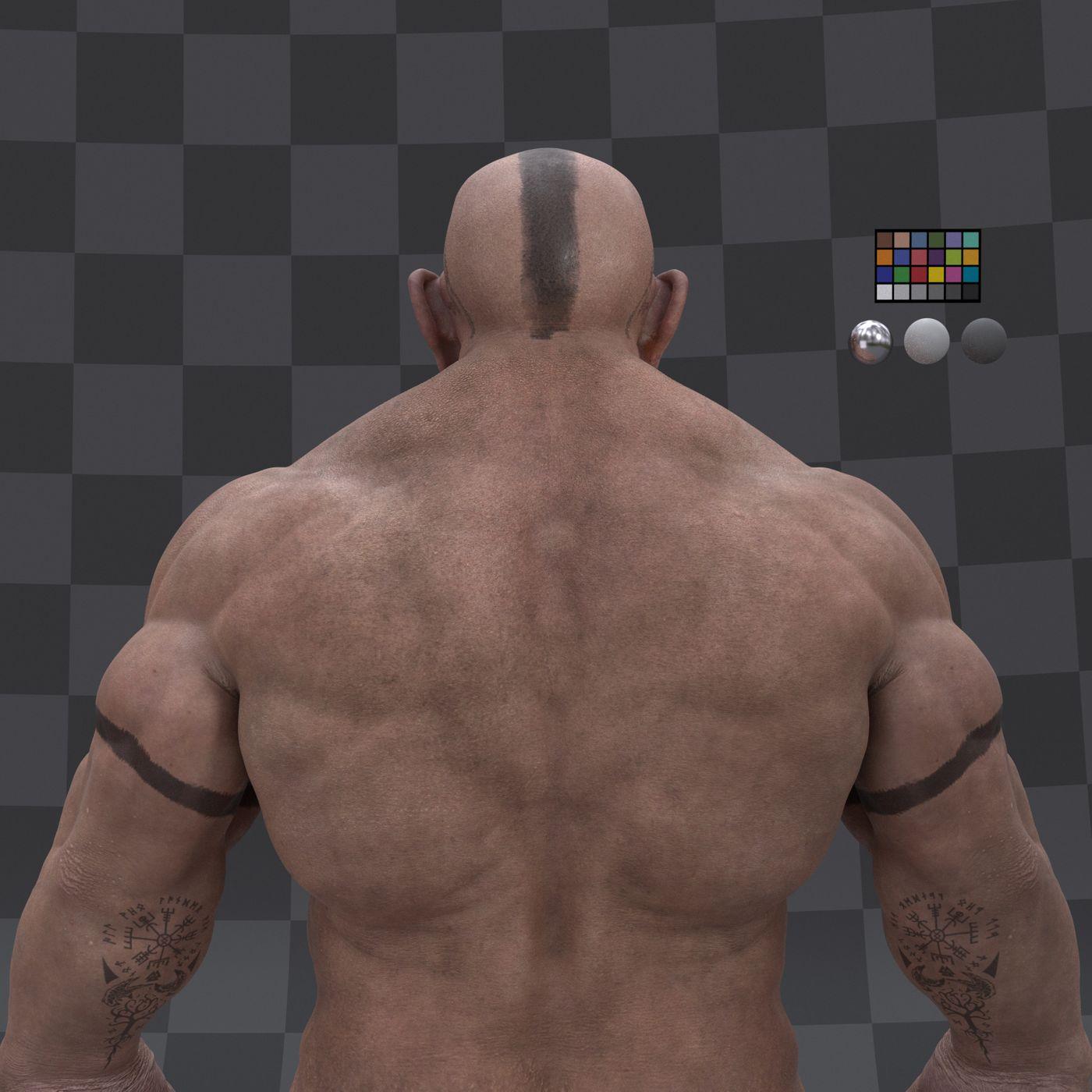 Dwarf Character  Turntable Profile 005 Gustavoordonez