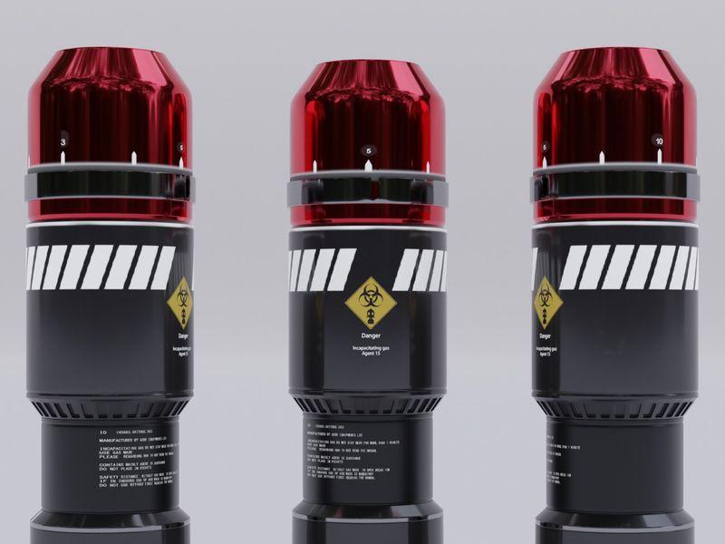 Futuristic gas grenade