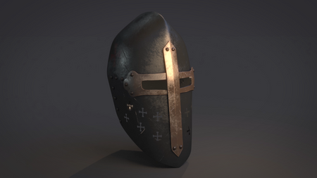 Middle age helmet