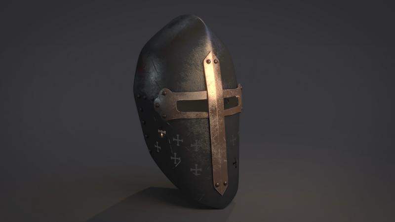Middle age helmet