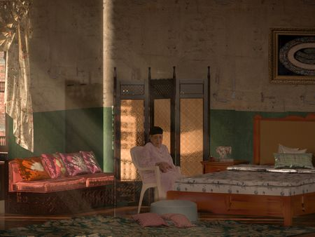 Bedroom in an  Apartment in An Old Egyptian Slum🌸 .