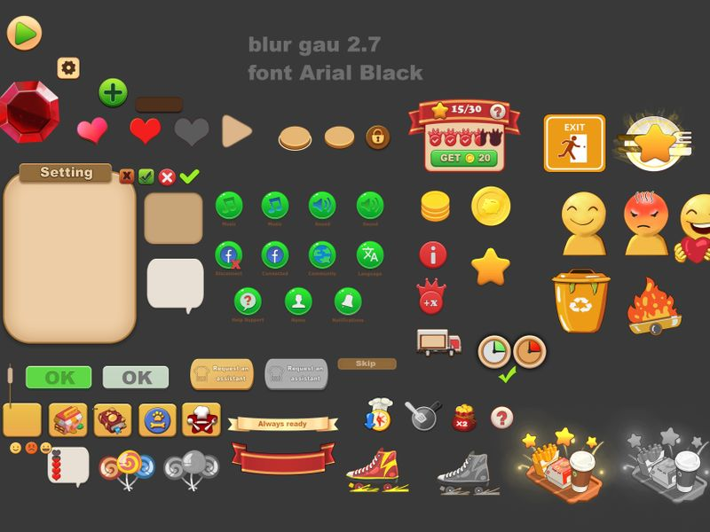 COOKING GAMES - UI/UX