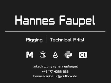 Rigging Reel  -  Hannes Faupel