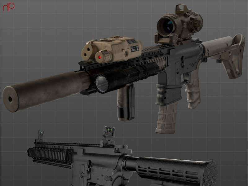 Weapon: 3D Modeling & Assembly