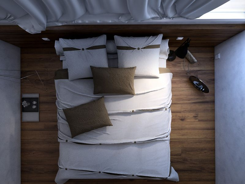Japanese minimalist Hotel Archviz