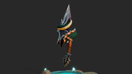 Enchanted blade of the Winterfin Tribe