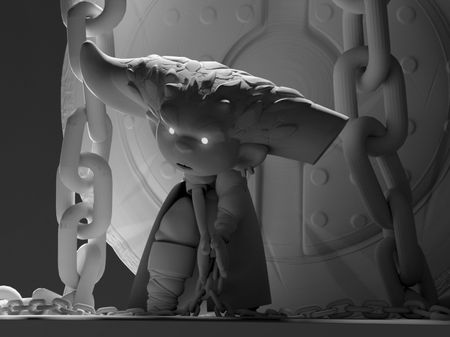 Hinn the demonic monk - clay render