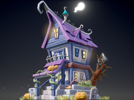 3 Projects: Stylized Witch House, Forge, Hamsterween