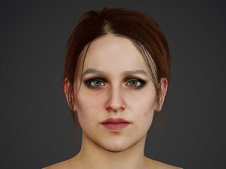 Real-time female bust