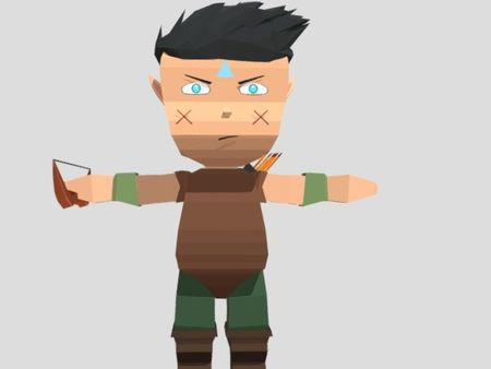 Low poly archer-game ready asset